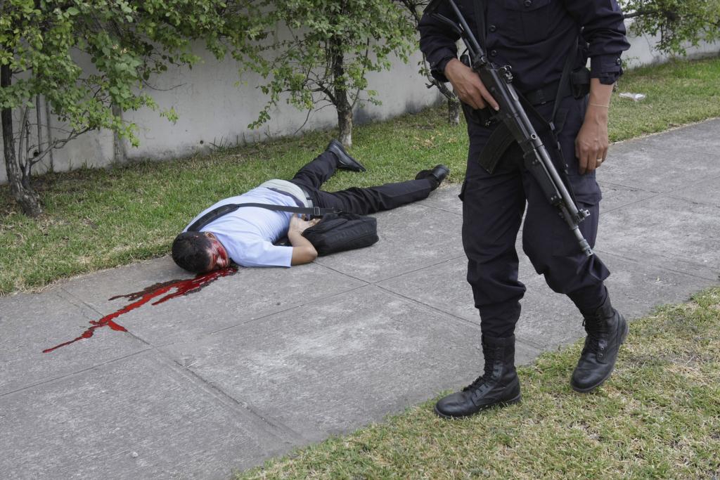 Esto fue en Mariona, un estudiante asesinado.