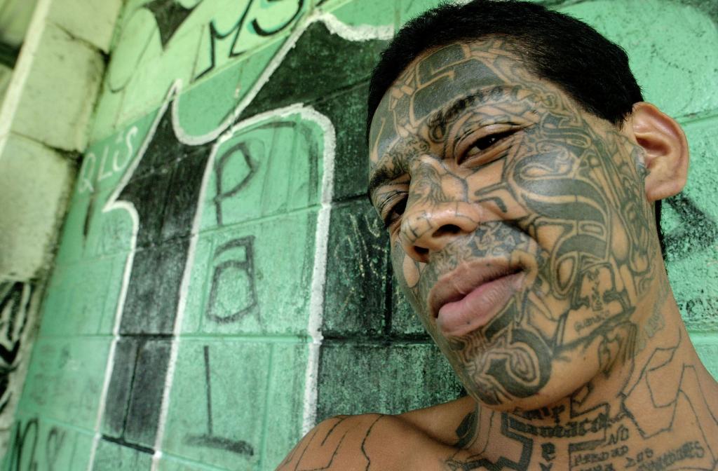 Cara tatuada en penal de Tonatepeque