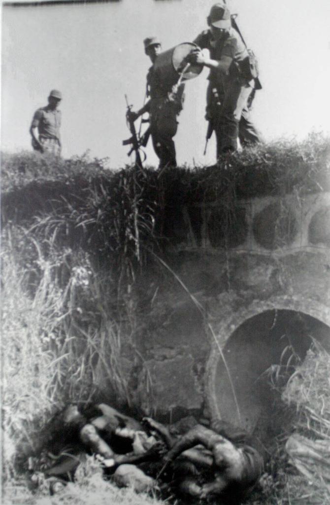 Militares queman cuerpos en Usulután.