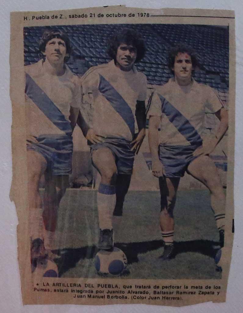 Pelé Zapata con el Puebla de México. Nelson Dueñas.