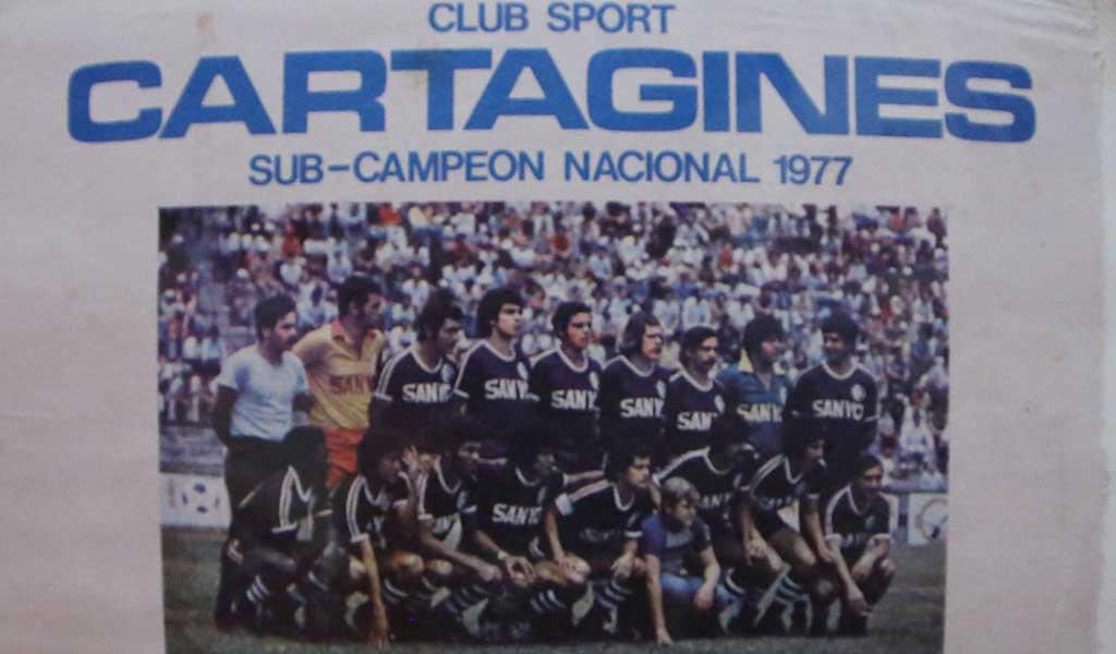 Integró las filas del Club Sport Cartaginés de 1977.
