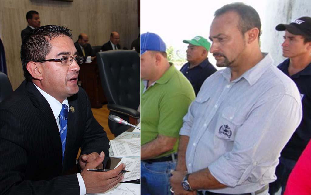 El diputado del PCN Reynaldo Cardoza y su suplente Wilver Rivera.