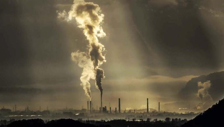 Contaminación visto en la zona industrial de Chablais, Suiza