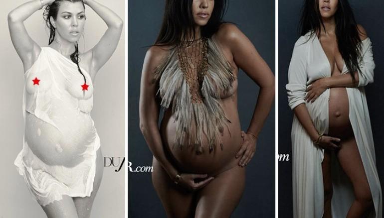Demi moore embarazada y desnuda
