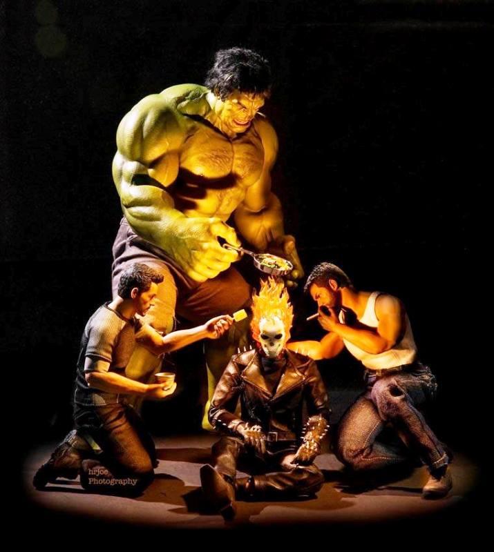 IMÁGENES ¿Te imaginas a tus superhéroes en sus ocupaciones fuera ...