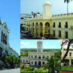 Composición fotográfica de las alcaldia de San Salvador, Santa Ana, Usulután y San Miguel. Foto D1