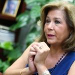 Carmen Elena Figueroa, actual diputada de la Asamblea Legislativa por el partido ARENA, y candidata a su reelección del partido en mención, habló con perioditas de Diario 1 sobre sus proyectos de ley de ser electa nuevamente diputada. Foto D1: Nelson Dueñas