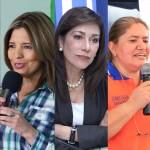 Candidatos a diputados más conocidos, según encuesta de UFG. Walter Guzmán (GANA), Claudia Ramírez (DS), Ana Vilma de Escobar (ARENA), Sandra Salgado (GANA) y Medardo González (FMLN).
