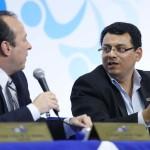 Magistrados TSE Julio  Olivo (d) y  Fernado Argüello Tellez. Foto D1 Nelson Dueñas.