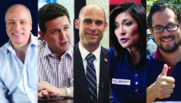 Rodrigo Ávila, Juan Valiente, Ricardo Velásquez Parker, Karla Hernández y Gustavo Escalante.