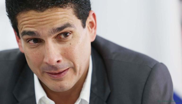 Alcalde electo de Santa Tecla por ARENA, Roberto d'Aubuisson. Foto D1 Nelson Dueñas.