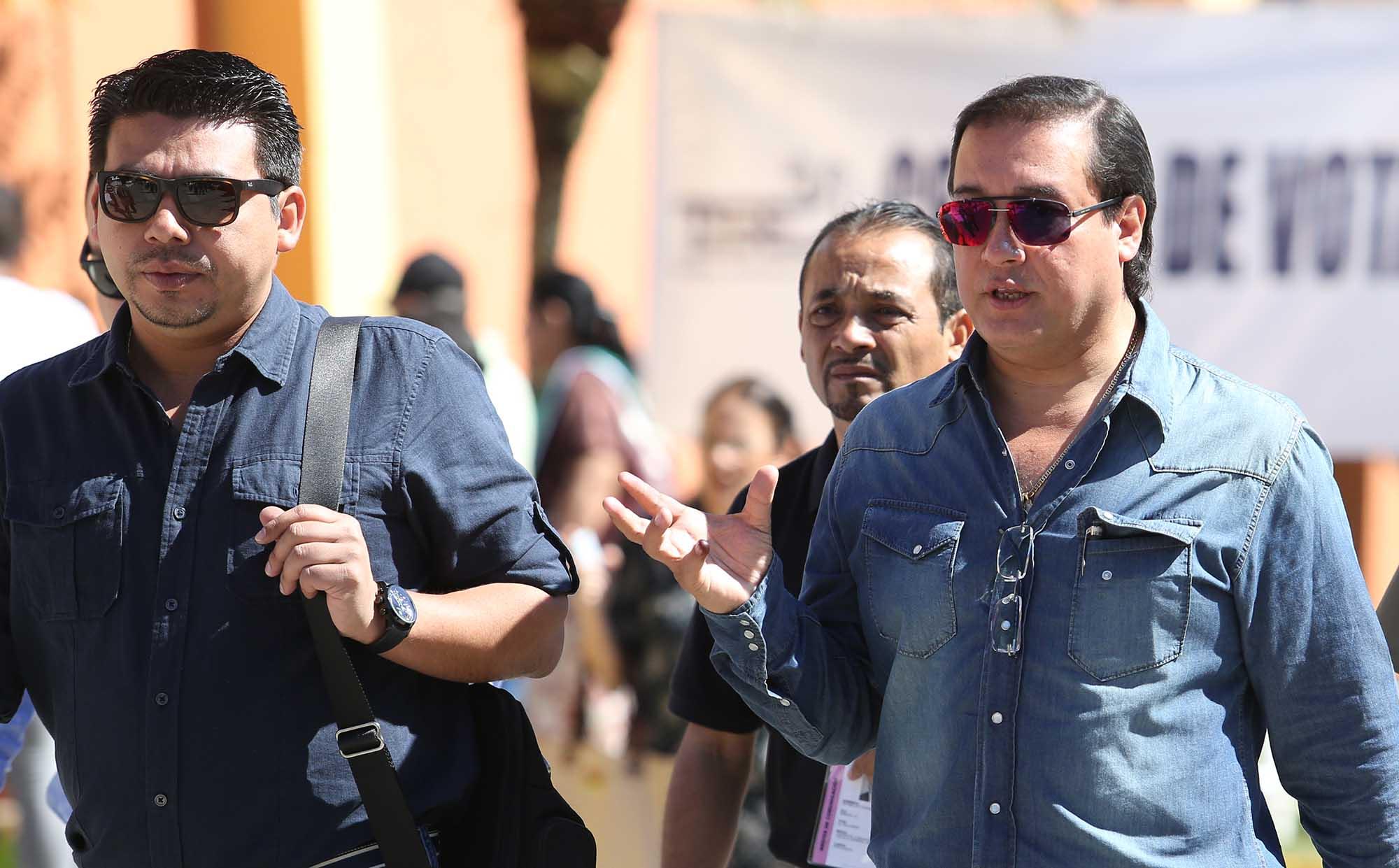 El fiscal general de la República, Luis Martínez junto a Edgar Márquez, fiscal adjunto. Foto D1.