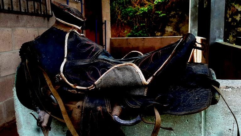 Foto D1. Salvador Sagastizado. Silla de montura que perteneció a yegua que le robaron al niño David.