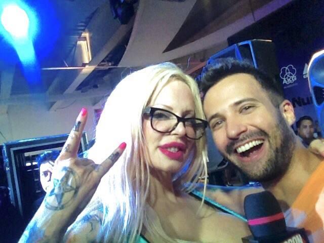 Sabrina junto a Rodrigo Massa.