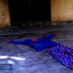 Foto D1. Salvador Sagastizado. En el patio aún hay ropa de Gerson.