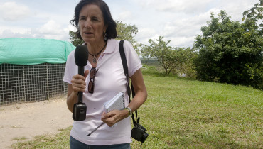 """Undated file picture of Spanish journalist Salud Hernandez, columnist for the Colombian newspaper El Tiempo and correspondent for the Spanish newspaper El Mundo, who went missing in El Tarra, Colombia on May 21, 2016.  The Colombian armed forces began to search on May 22, 2016 for Spanish journalist Salud Hernandez after her alleged disappearance while on assignment in the municipality of El Tarra, Norte de Santander department, in the Catatumbo area, where guerrilla groups and criminal gangs are active.  / AFP PHOTO / Alejandra Vega HO / RESTRICTED TO EDITORIAL USE - MANDATORY CREDIT """"AFP PHOTO /EL TIEMPO / ALEJANDRA VEGA"""" - NO MARKETING - NO ADVERTISING CAMPAIGNS - DISTRIBUTED AS A SERVICE TO CLIENTS"""