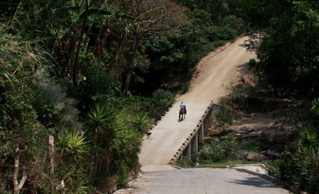 Este es el punto ciego de San Fernando, Chalatenango, donde comienza la ruta de la cocaína conocida como El Caminito. Foto El Faro.