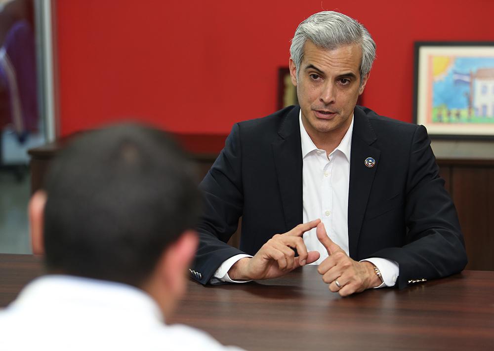 Mauricio Interiano, candidato a presidir el COENA. Foto D1/Rodrigo Sura