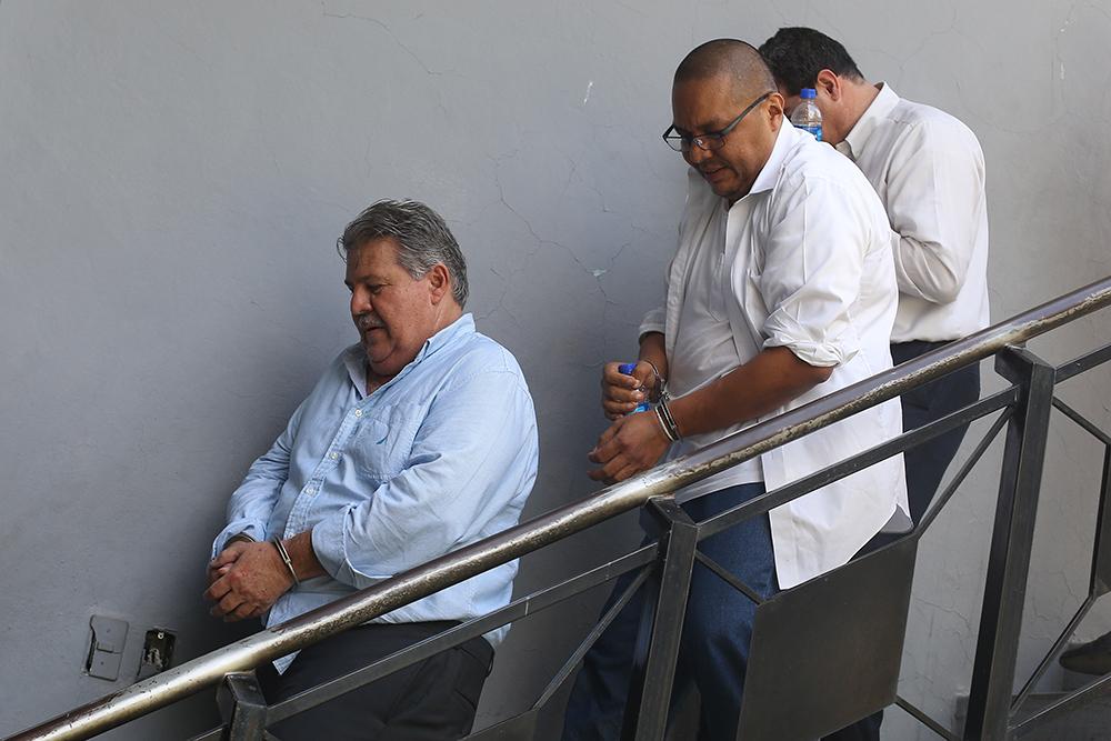 Enrique Rais y otros implicados en el caso de adulteración de procesos judiciales. Foto D1, Archivo.