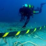 Cable submarino. Foto de referencia.