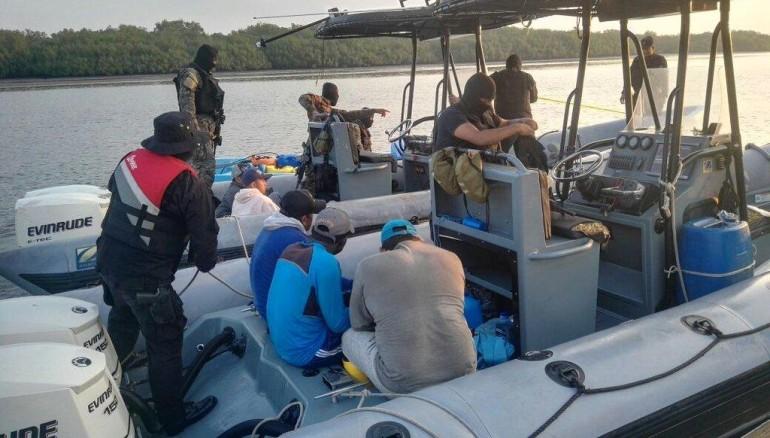 Lancha con alijo de drogas interceptada por PNC en mayo pasado, en la Costa del Sol.