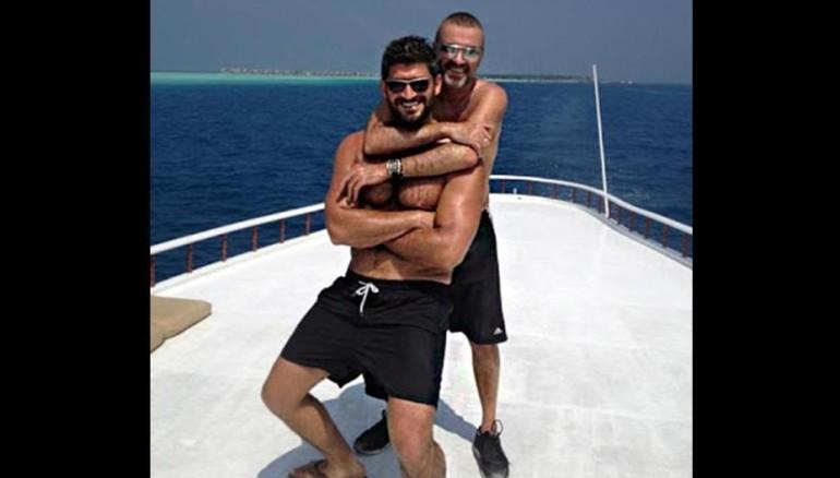 El estilista Fadi Fawaz y George Michael.