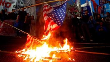 quema bandera