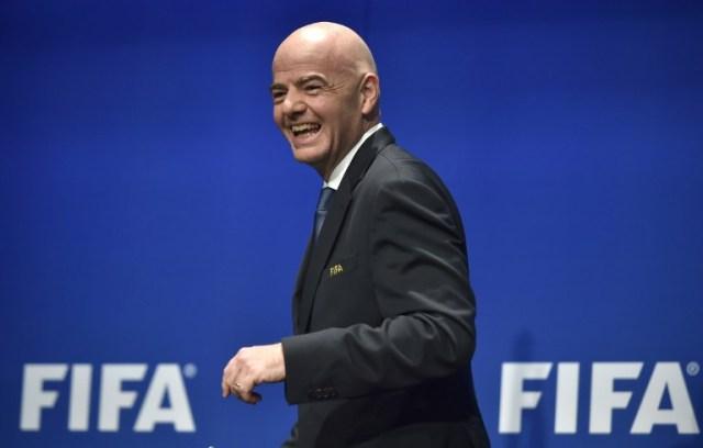 Gianni Infantino, presidente de la FIFA. Foto D1, AFP.