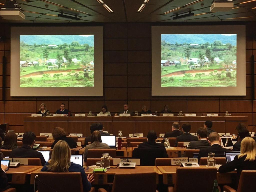 Sesión de la reunión Post-UNGASS en Viena, Austria. Foto tomada de Twitter.