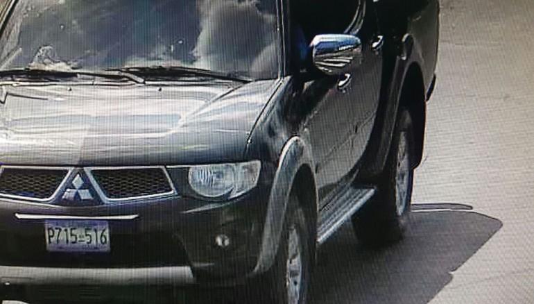 Vehículo que era conducido por miembro del Batallón Presidencial. Foto D1.