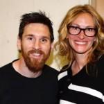 Leonel Messi y Julia Roberts.