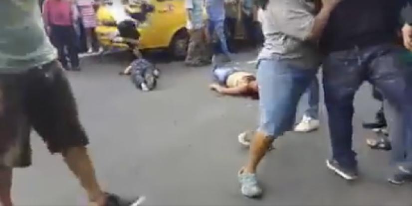 pandilleros golpeados
