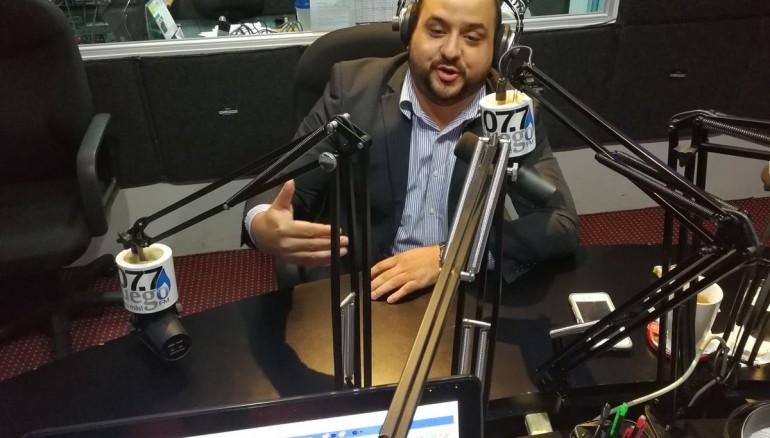 Ricardo Contreras, exprecandidato a alcalde de San Salvador por el partido ARENA. Foto tomada de @netolopezradio