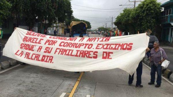 alcaldía protesta