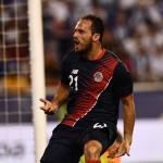 Marco Ureña, autor del único gol entre ticos y catrachos. Foto D1, AFP.