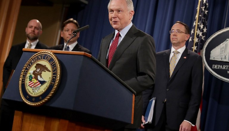 Jeff Sessions, fiscal general de EE.UU. Foto D1, AFP.