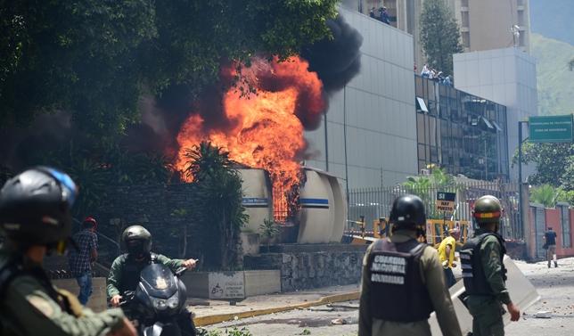 Una huelga nacional de 24 horas se inició en Venezuela este jueves para aumentar la presión sobre el presionado presidente izquierdista Nicolás Maduro. Foto D1, AFP.