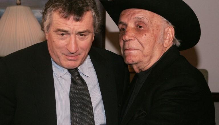 Robert De Niro (izquierda) y Jake LaMotta (derecha) en 2005. Foto D1, AFP.