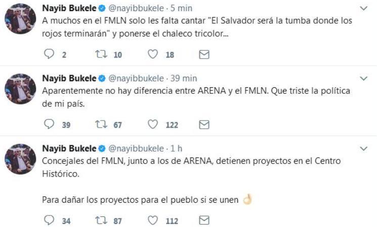 bukele critica al fmln