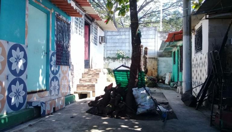 Casa donde fue encontrada la joven. Foto PNC