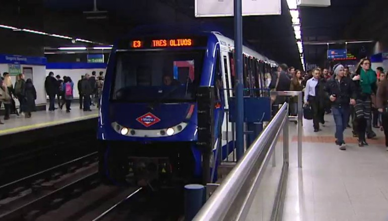 Imagen de metro de Madrid. De referencia.