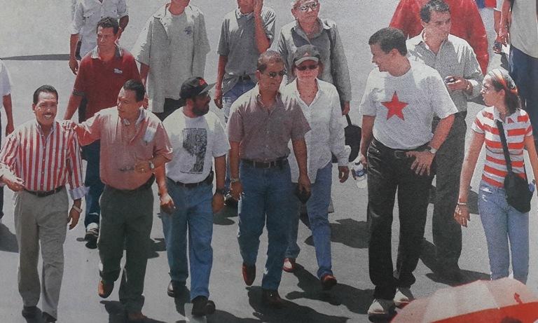 Un grupo de reformadores liderados por Óscar Ortiz y Hugo Martínez. Foto archivo LPG.