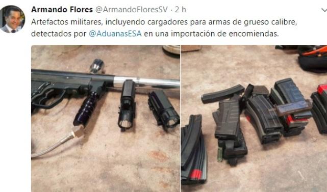 armas aduanas