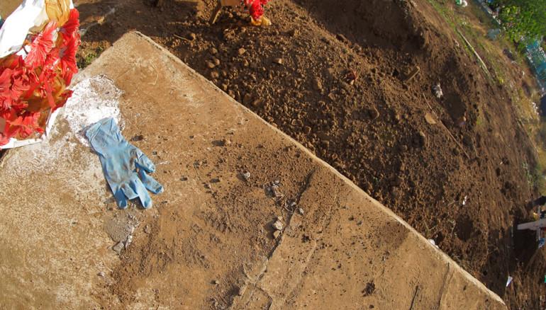 Foto: D1/Miguel Lemus. Escena donde exhumaron el cadáver de Paula Castro,