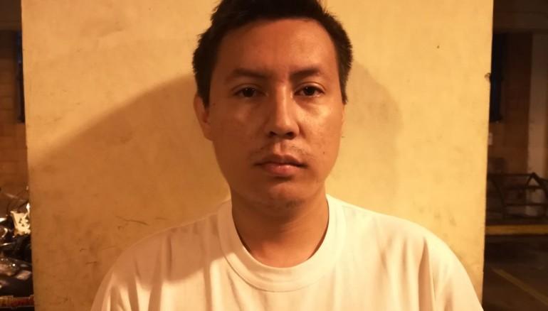 Capturado por acoso cibernático. Imagen de PNC.