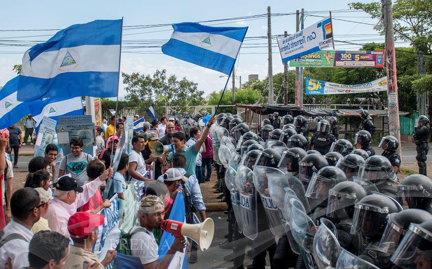 Las protestas demandando elecciones libres fueron reprimidas todo el tiempo. Según analistas los partidos opositores han sido destruidos. Foto LA PRENSA/ARCHIVO