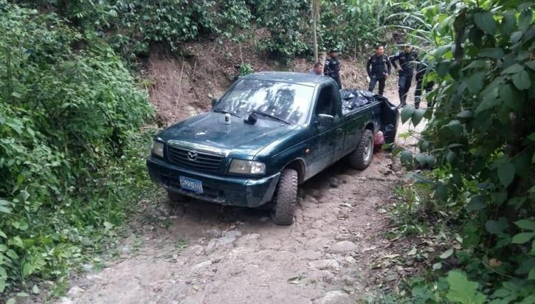 Masacran en Esquipulas a personas que viajaban en pick up placas salvadoreñas