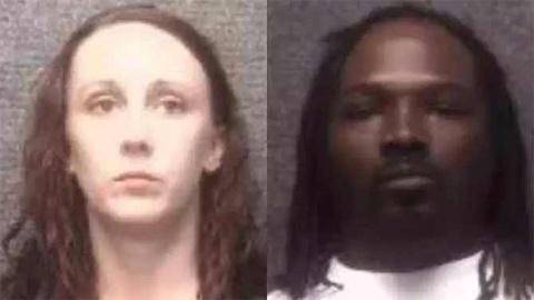 Heather Lynn Odom y Jeremy Barret, padres del menor de edad que se disparó. Foto tomada del periódico Excelsior