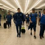 La selección salvadoreña de fútbol a su llegada al aeropuerto de Dulles en Washington DC. Foto de La Selecta.