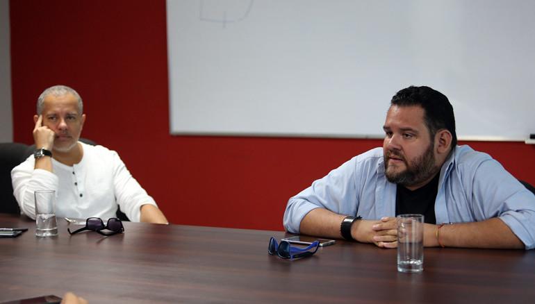Alfondo Quijada (izquierda) y Arturo Menéndez. FOTO: D1/MIGUEL LEMUS.
